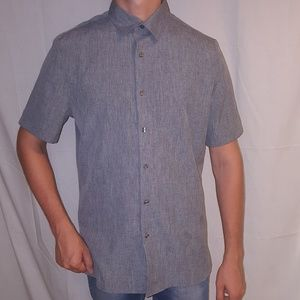 Medium Perry Ellis Casual Button Down Shirt Grey